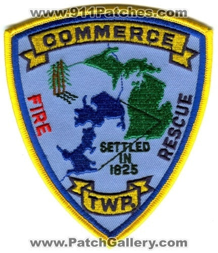 Commerce Township Fire Rescue Department Patch Michigan MI
