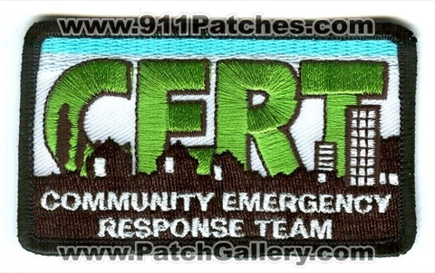 Community Emergency Response Team CERT Patch No State Affiliation