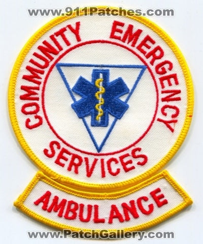Community Emergency Services Ambulance EMS Patch Maine ME