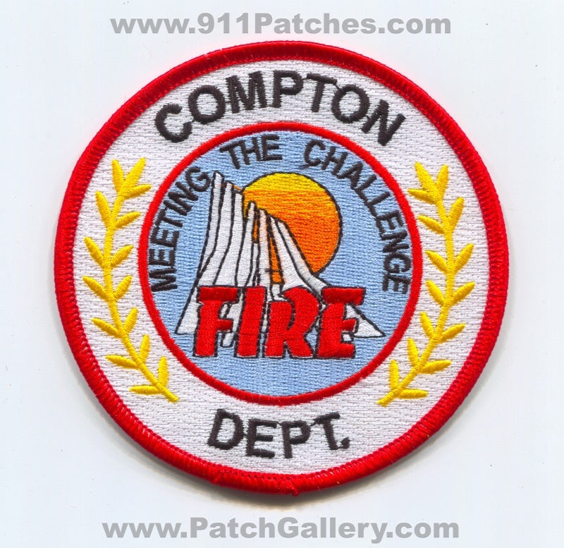 Compton Fire Department Patch California CA
