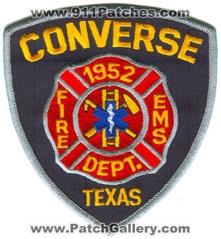 Converse Fire Department Patch Texas TX