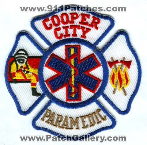 Cooper City Fire Department Paramedic Patch Florida FL