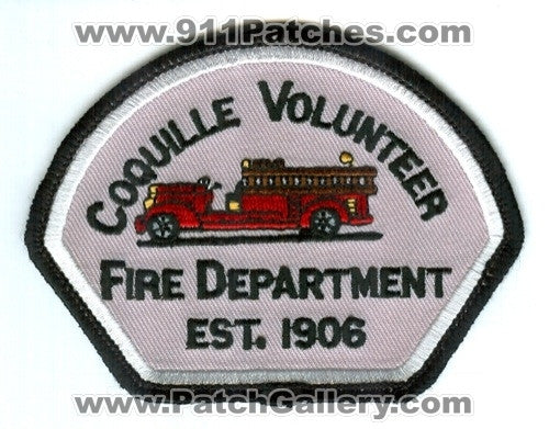 Coquille Volunteer Fire Department Patch Oregon OR