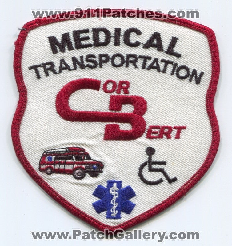 CorBert Medical Transportation EMS Patch New Jersey NJ