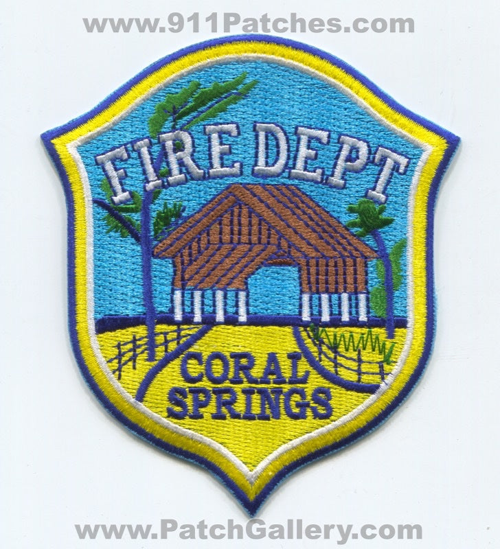 Coral Springs Fire Department Patch Florida FL