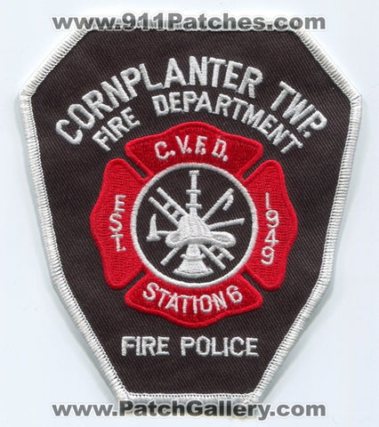 Cornplanter Township Volunteer Fire Police Department Station 6 Patch Pennsylvania PA