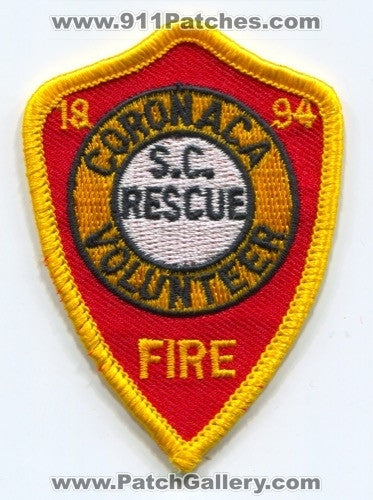Coronaca Volunteer Fire Rescue Department Patch South Carolina SC