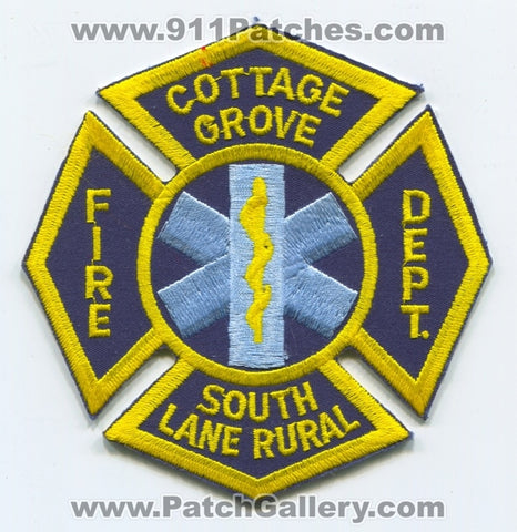 Cottage Grove South Lane Rural Fire Department Patch Oregon OR