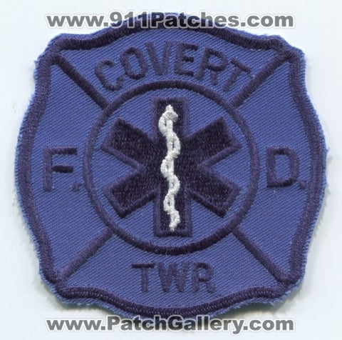 Covert Township Fire Department EMS Patch Michigan MI