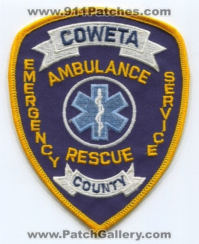Coweta County Ambulance Rescue EMS Patch Georgia GA