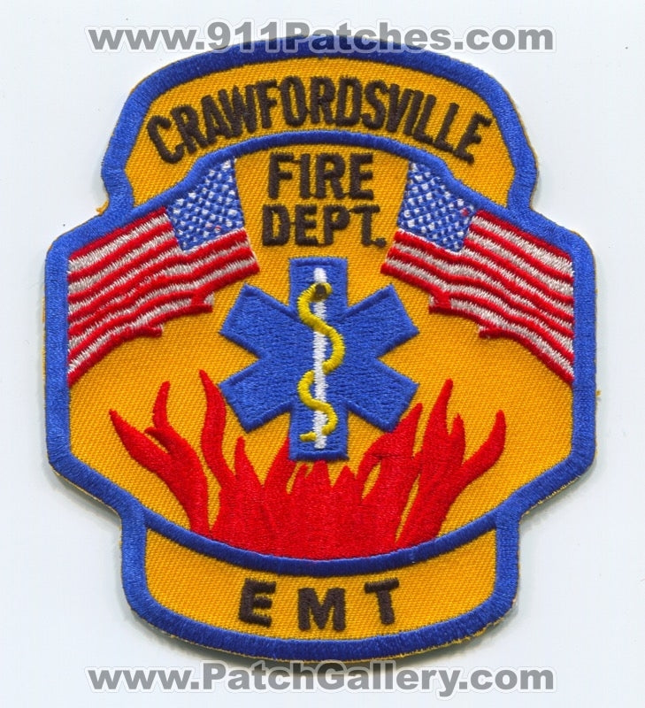 Crawfordsville Fire Department Emergency Medical Technician EMT Patch Indiana IN