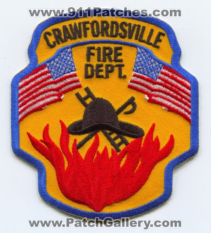 Crawfordsville Fire Department Patch Indiana IN