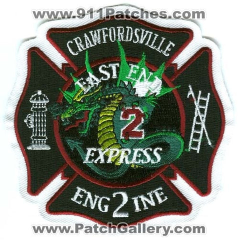 Crawfordsville Fire Department Engine 2 Patch Indiana IN SKU293