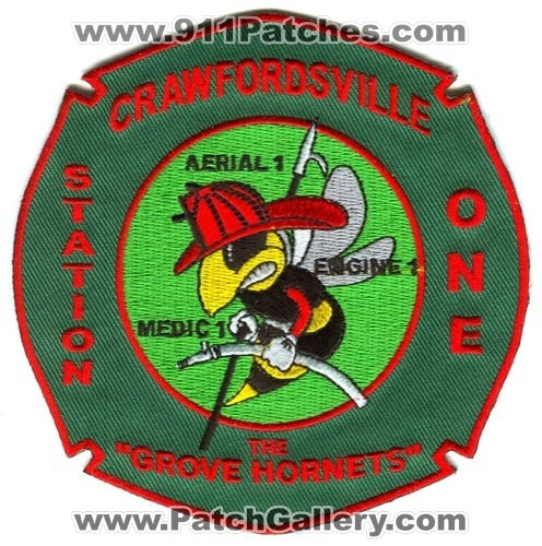 Crawfordsville Fire Department Station 1 Patch Indiana IN