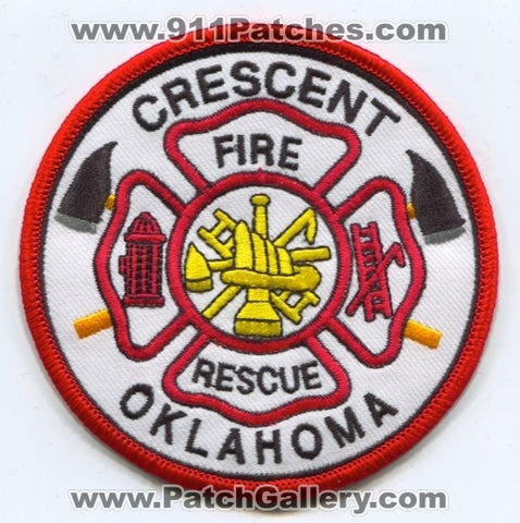 Crescent Fire Rescue Department Patch Oklahoma OK