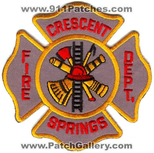 Crescent Springs Fire Department Patch Kentucky KY
