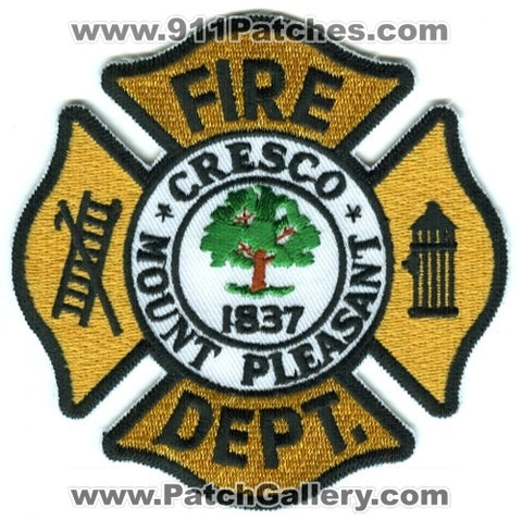 Cresco Mount Pleasant Fire Department Patch South Carolina SC