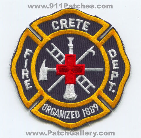 Crete Fire Department Patch Illinois IL