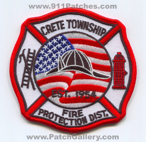 Crete Township Fire Protection District Patch Illinois IL