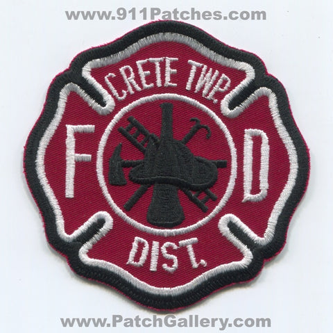 Crete Township Fire District Department Patch Illinois IL