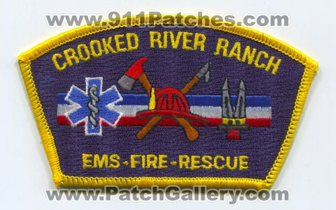 Crooked River Ranch Fire Department Patch Oregon OR