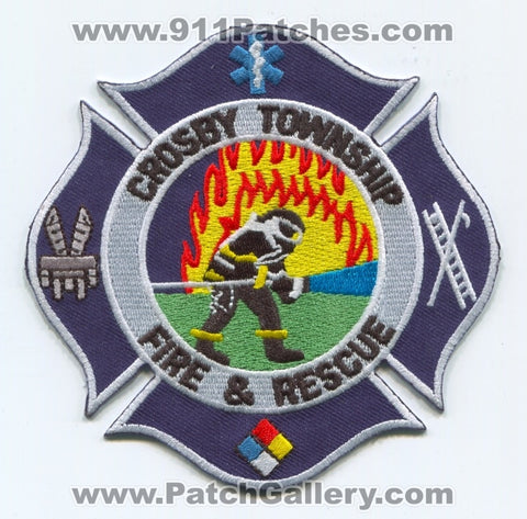 Crosby Township Fire and Rescue Department Patch Ohio OH