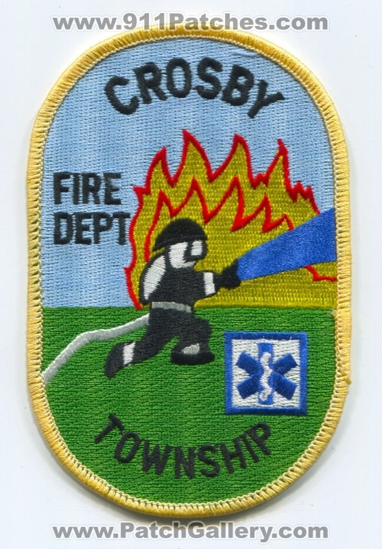 Crosby Township Fire Department Patch Ohio OH