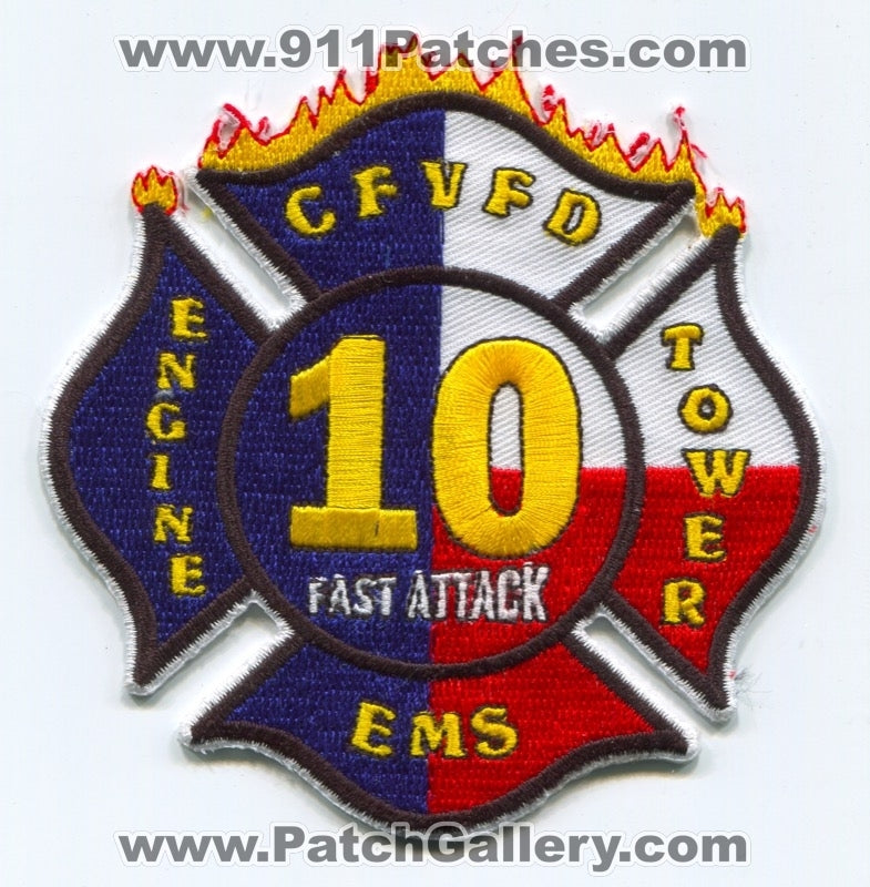 Cy-Fair Volunteer Fire Department Station 10 Patch Texas TX