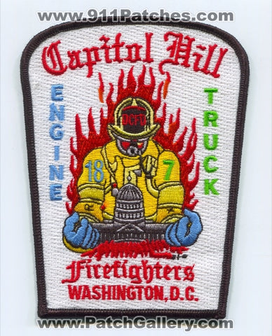 District of Columbia Fire Department DCFD Engine 18 Truck 7 Patch Washington DC