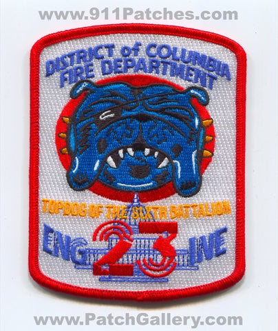 District of Columbia Fire Department DCFD Engine 23 Patch Washington DC