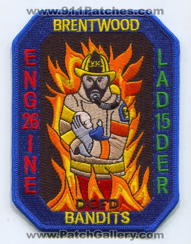 District of Columbia Fire Department DCFD Engine 26 Ladder 15 Patch Washington DC