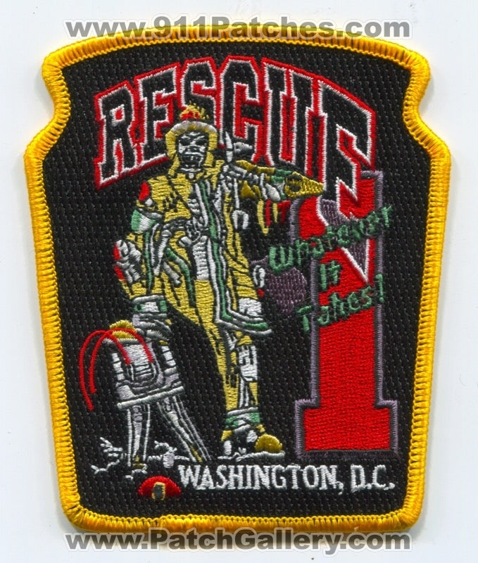 District of Columbia Fire Department DCFD Rescue 1 Patch Washington DC