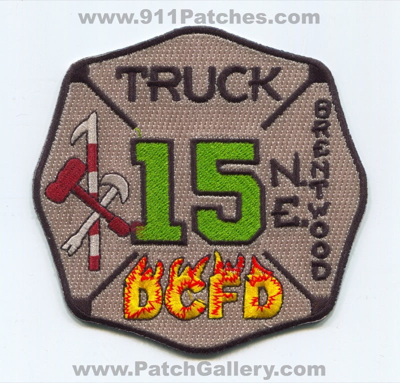 District of Columbia Fire Department DCFD Truck 15 Patch Washington DC