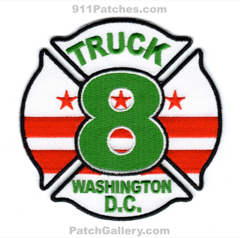 District of Columbia Fire Department DCFD Truck 8 Patch Washington DC