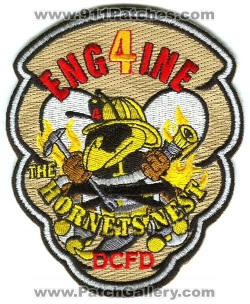 District of Columbia Fire Department DCFD Engine 4 Patch Washington DC