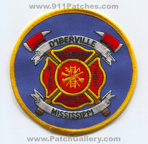 D'Iberville Fire Rescue Department Patch Mississippi MS