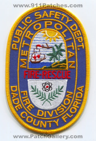 Metropolitan Dade County Fire Division Patch Florida FL