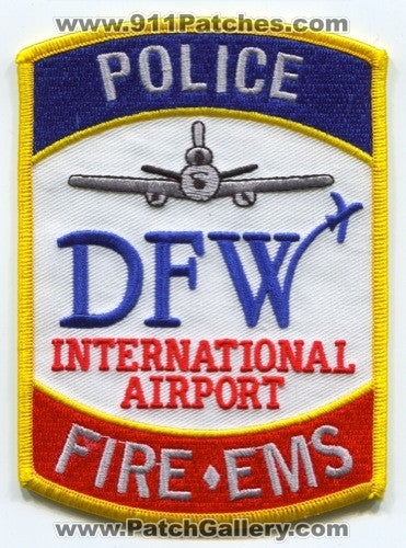 Dallas Fort Worth International Airport Fire Police Department Patch Texas TX