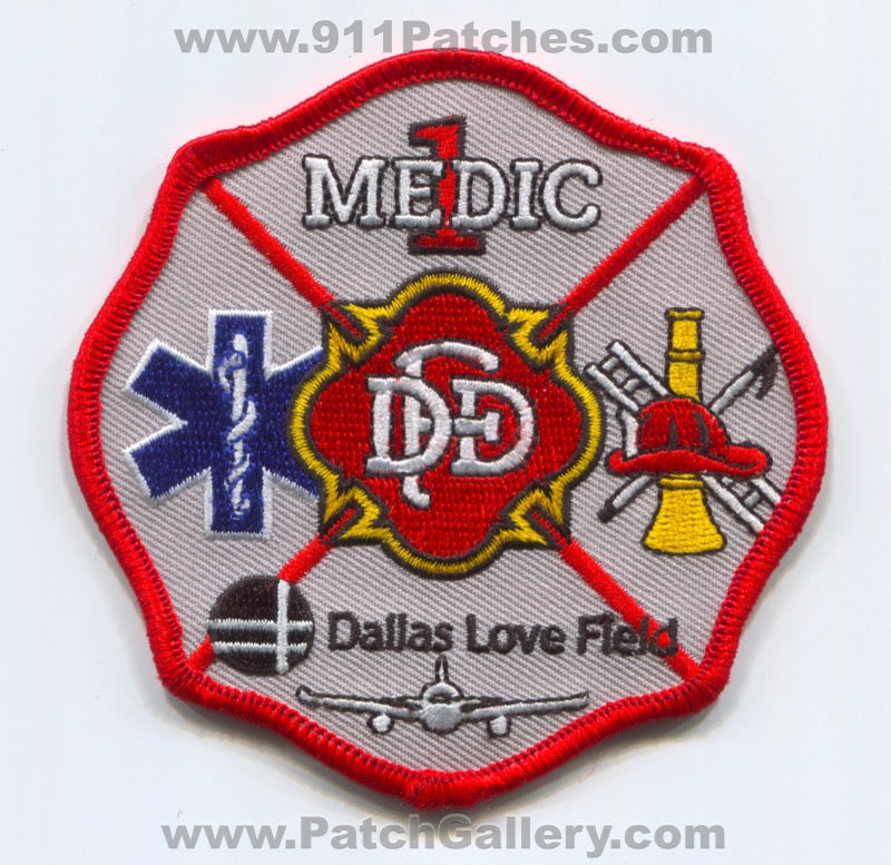 Dallas Fire Department Medic 1 Love Field Airport EMS Patch Texas TX