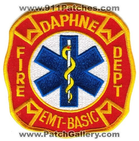 Daphne Fire Department EMT Basic EMS Patch Alabama AL