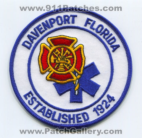 Davenport Fire Department Patch Florida FL