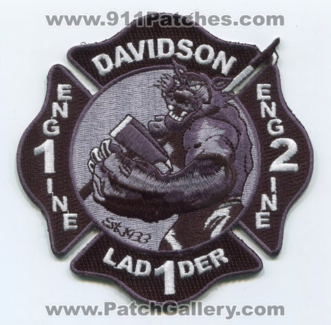 Davidson Fire Department Engine 1 Engine 2 Ladder 1 Patch North Carolina NC