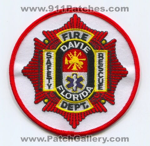 Davie Fire Department Safety Rescue Patch Florida FL
