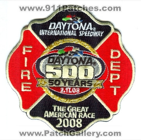 Daytona International Speedway Fire Department Patch Florida FL