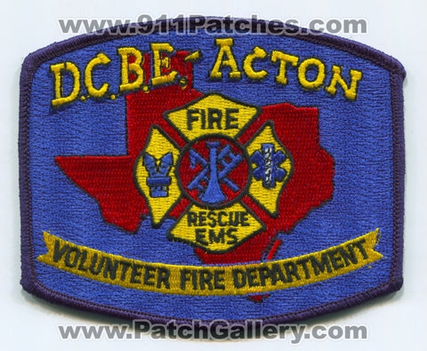 Decordova Bend Estates Action Volunteer Fire Department Patch Texas TX