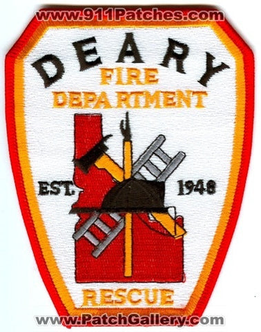 Deary Fire Rescue Department Patch Idaho ID