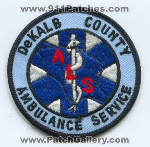 Dekalb County Ambulance Service ALS EMS Patch Unknown State