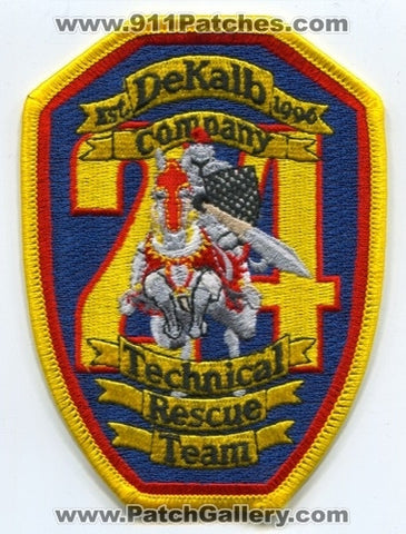 Dekalb County Fire Department Company 24 Technical Rescue Team Patch Georgia GA