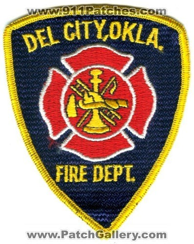 Del City Fire Department Patch Oklahoma OK