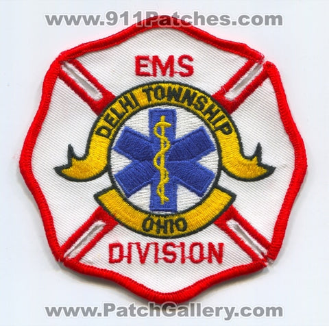 Delhi Township Fire Department EMS Division Patch Ohio OH